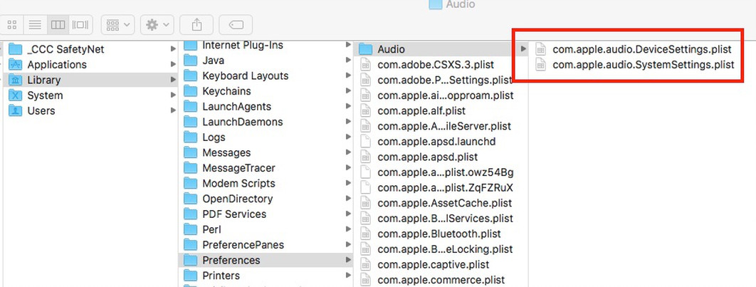 Showing the .plist files detailed in step 3B.