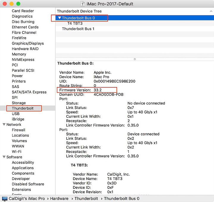 """Firmware Version"" shown in ""System Report"" window."
