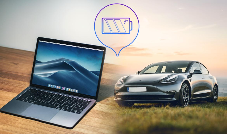 Tesla and Apple Charging Battery